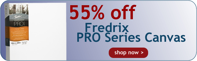 New - Pro Series Stretched Canvases from Fredrix - On Sale now at Rex Art!