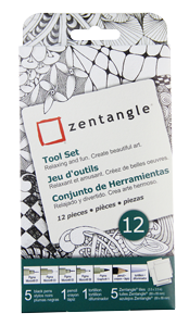 Pigma Zentangle 3.5 White Tile Set of 12