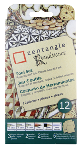 Pigma Zentangle 3.5 Tan Tile Set of 12