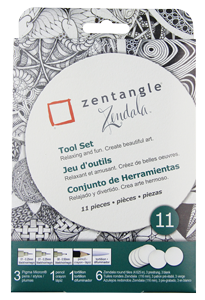 Pigma Zentangle White Zendala Set of 11
