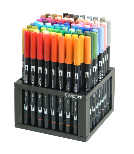 Tombow Dual Brush 96 Color Desk Pen Set