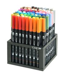 Tombow Dual Brush 96 Color Desk Pen Set