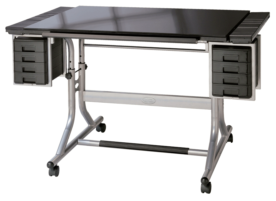 Alvin Craftsmaster Ii Glass Top Deluxe Art Amp Drawing Table