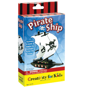 Creativity for Kids Make Your Own Pirate Ship Mini Kit