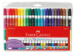 Faber-Castell Duotip Washable Markers Set of 24
