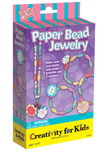Creativity for Kids Paper Bead Jewelry Mini Kit