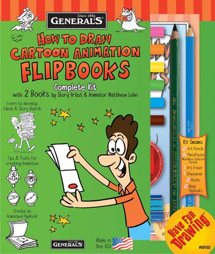 Generals How To Draw Cartoon Flipbooks! Kit
