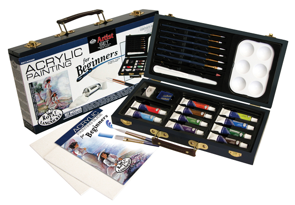 Royal & Langnickel Acrylic Painting for Beginners Wood Box Set