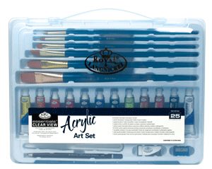 Royal & Langnickel Acrylic Painting Set in a Large Clear View Art Case