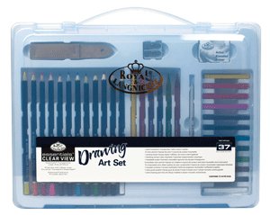 Royal & Langnickel Drawing Set in a Large Clear View Art Case
