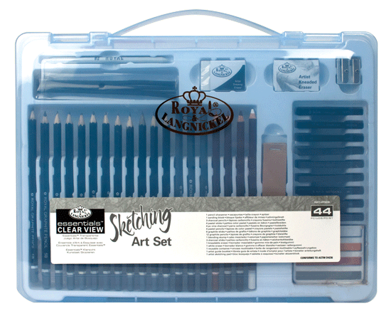 Royal & Langnickel Sketching Set in a Large Clear View Art Case