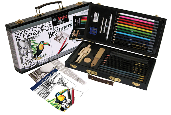 Royal & Langnickel Sketching & Drawing for Beginners Wood Box Set