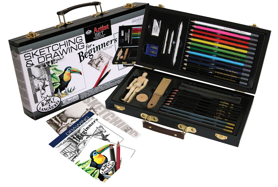 Royal langnickel sketching drawing for beginners set for Watercolor supplies for beginners