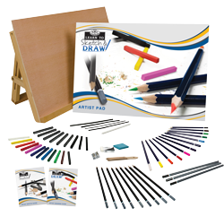 Royal & Langnickel Learn To Sketch Draw Set 58Pc