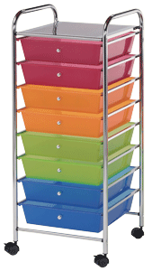 Blue Hills Studio Storage Cart, 8 Drawers (Wide), Multicolor*