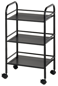 Blue Hills Studio Storage Cart, 3 Shelves, Black