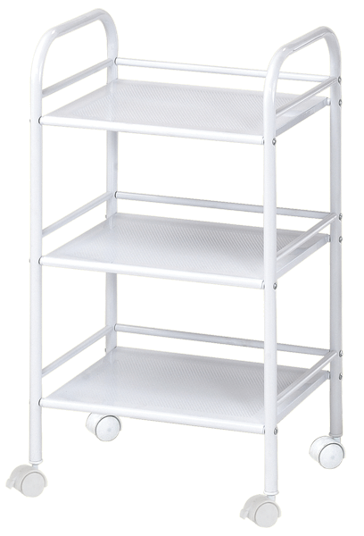 Blue Hills Studio Storage Cart, 3 Shelves, White