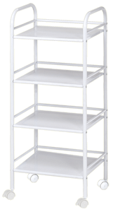 Blue Hills Studio Storage Cart, 4 Shelves, White