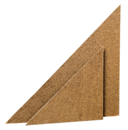 BEST 8 Hardboard Corners (for small paintings) - Pack of 4