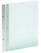 CASE Envy Ice Nine Portfolio Cover - Color Frosted Green Cover, Silver Spine - Size 8.5 x 11 Portrait