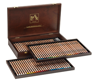 Caran dAche Luminance Lightfast Pencil Wood Box Set of 76