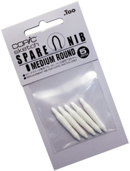 Copic Replacement Nib, Sketch Medium Round, Pack of 5