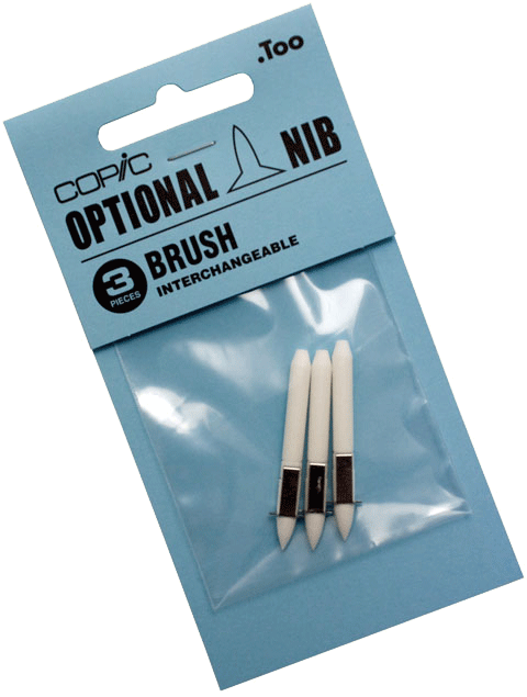 Copic Replacement Nib, Brush, Pack of 3