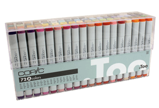 Copic Original Marker 72 Color Set A