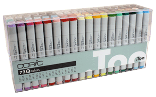 Copic Original Marker 72 Color Set B