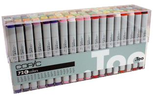 Copic Original Marker 72 Color Set C