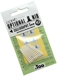 Copic Replacement Nib, Calligraphy, 3mm, Pack of 10