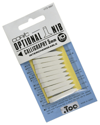 Copic Replacement Nib, Calligraphy, 5mm, Pack of 3
