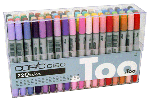 Copic Ciao Marker 72 Color Set A