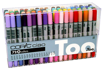 Copic Ciao Marker 72 Color Set A