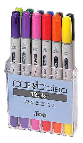 Copic Ciao Marker 12 Color Basic Set