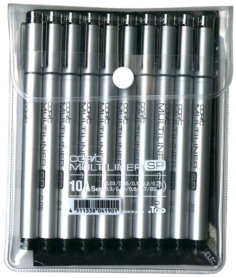 A INK CARTRIDGE REFILL COPIC MULTILINER SP FITS PEN SIZES 0.03//0.05//0.1