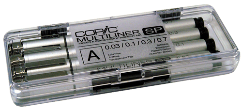 Copic Multiliner SP Pen 4 Pen Set A