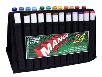 Copic Manga Sketch Marker 24 Color Set A