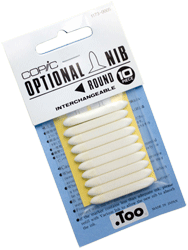 Copic Replacement Nib, Round, Pack of 3
