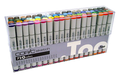 Copic Sketch Marker 72 Color Set A
