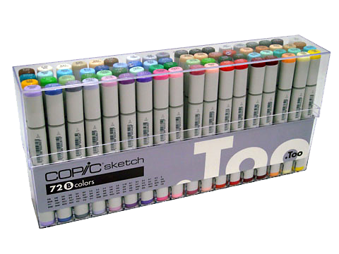 Copic Sketch Marker 72 Color Set B