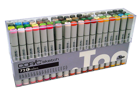 Copic Sketch Marker 72 Color Set C