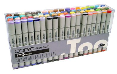 Copic Sketch Marker 72 Color Set D