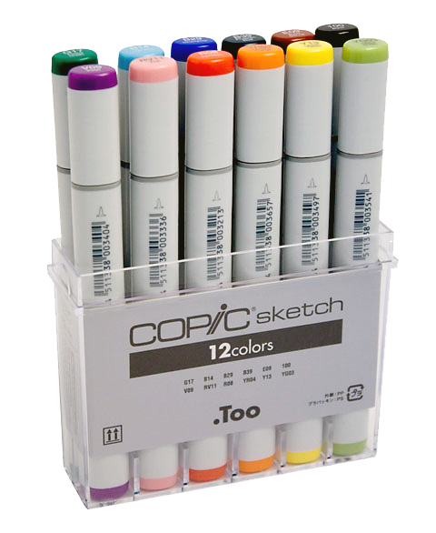 Copic Sketch Marker 12 Color Basic Set