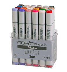 Copic Sketch Marker 24 Color Set