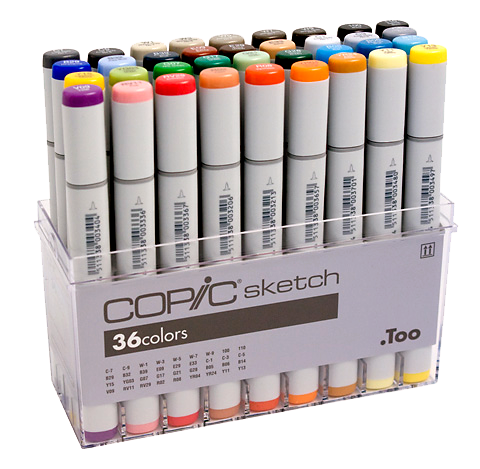 Copic Sketch Marker 36 Color Set