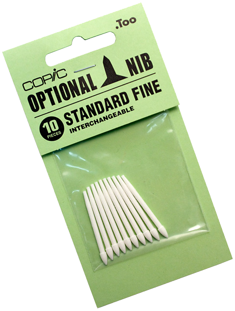 Copic Replacement Nib, Standard Fine, Pack of 10