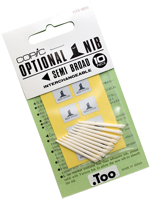 Copic Replacement Nib, Semi Broad, Pack of 10
