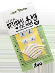 Copic Replacement Nib, Semi Broad, Pack of 10