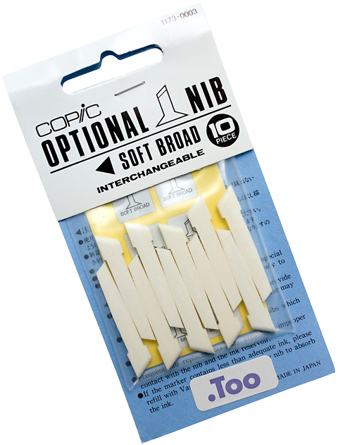 Copic Replacement Nib, Soft Broad, Pack of 10